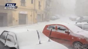 Irruzione artica 9 febbraio 2015: blizzard a Enna - VIDEO