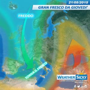 Sicilia, da giovedì tempo in peggioramento. Temperature nuovamente giù di 10 gradi