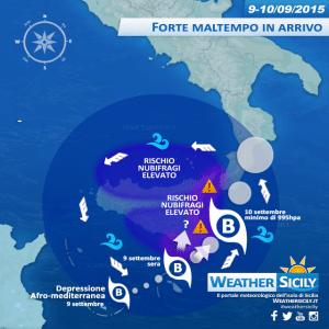 Sicilia, depressione afro-mediterranea: in arrivo forti mareggiate su costa tirrenica e ionica, attenzione!