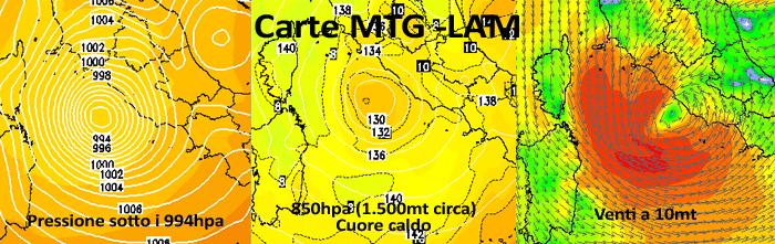 | Possibile ciclone mediterraneo sul Tirreno sabato 10 ottobre 2015 |