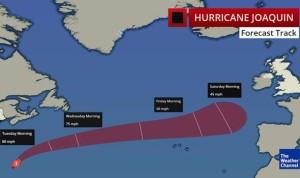 | Movimento uragano Joaquin, foto The Wheather Channel |