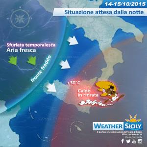 Sicilia, caldo con le ore contate: dalla notte sfuriata temporalesca e calo termico