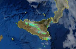 | Il nubifragio visto dal radar |