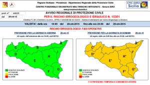 Protezione Civile: giovedì criticità arancione in Sicilia (preallarme)
