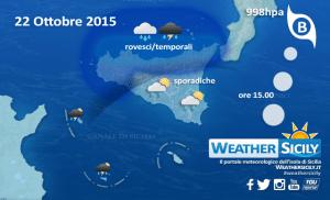 Sicilia, calo termico in atto. Attese discrete precipitazioni lungo la fascia tirrenica