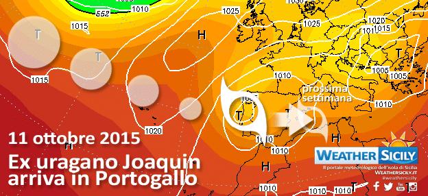 | Uragano Joaquin impatta con il Portogallo |