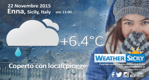 Risveglio freddo in Sicilia, ma la neve può ancora attendere
