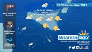 Sicilia, nel weekend ancora freddo e qualche residua pioggia sulle tirreniche