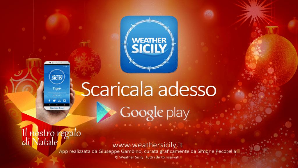Arriva l'App di Weather Sicily, la prima App siciliana con le previsioni meteo per tutti i comuni della Sicilia