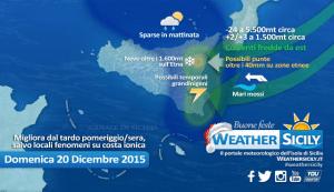 Attenzione, i modelli rincarano la dose: domenica perturbata e fredda sulla Sicilia orientale