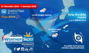 Svolta meteo vicina. Per Capodanno Sicilia sfiorata dal gelo russo