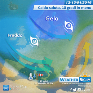 Sicilia, prima del gelo breve rimonta mite. L'inverno è pronto a riscattarsi, lo farà furiosamente