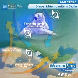 Weekend da brivido in Sicilia, il gelo artico porterà il vero inverno con tanta neve e venti furiosi