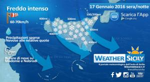 Sicilia al gelo: attesa altra neve in serata su Caltanissetta, Enna e localmente anche su Ragusa