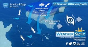 Sicilia, in serata ultimi fenomeni con ritorno del freddo