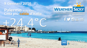 Sicilia, inverno o primavera? Siracusa raggiunge +24°C, Palermo e Catania +21°C