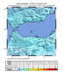 Forte scossa di magnitudo 6.1 nello Stretto di Gibilterra