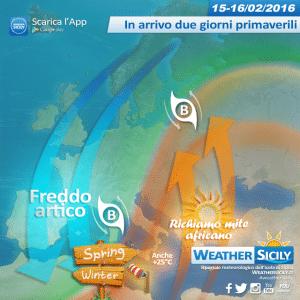 Sicilia: lunedì e martedì scoppia la primavera con punte di 25 gradi, a seguire crollo termico