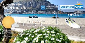 Caldo fuori stagione in Sicilia: Palermo raggiunge +29 gradi, martedì il picco