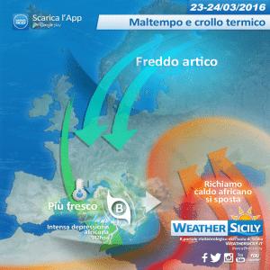 Sicilia, stop caldo! Crollo termico e maltempo in arrivo, giovedì torna anche la neve