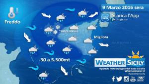 Sicilia, marzo prova a salvare l'inverno: si apre una fase più fredda, nevosa e perturbata