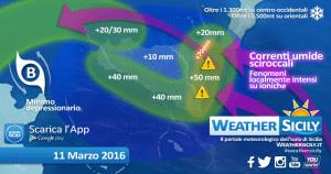   Tot millimetri previsti in 24 ore, grafica weathersicily.it  