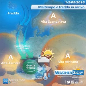 1-2 Maggio 2016 con maltempo e freddo in Sicilia, giungono altre conferme!