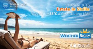 In Sicilia è estate, raggiunti +33°C nel palermitano. Mercoledì atteso il picco