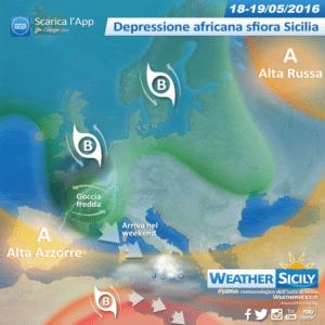 Sicilia, maggio pazzo! Depressione africana in arrivo, poi goccia fredda nel weekend