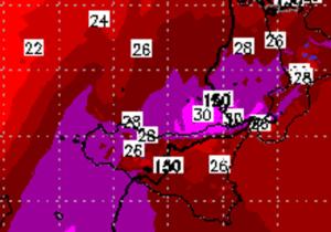 | La termica di +30 raggiunge il messinese |