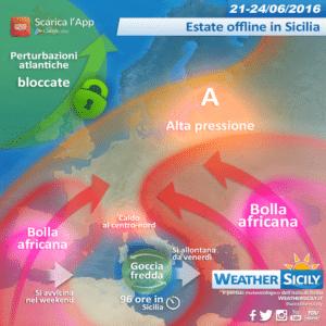 Estate siciliana offline: goccia fredda alimenterà fresco e temporali di calore sulle zone interne