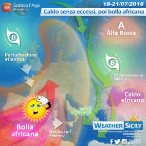 Sicilia: lieve flessione termica in arrivo, atteso anche qualche disturbo