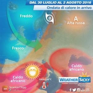 Sicilia, bolla africana si scompone. Maltempo e fresco nel weekend?