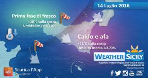 Sicilia, avanza il fresco: temperature si porteranno sotto la media stagionale