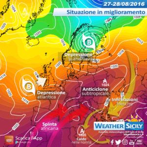 Sicilia, prosegue l'estate altalenante: torna qualche disturbo da mercoledì