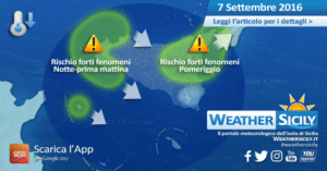 Sicilia: ancora maltempo diffuso giovedì, scopriamo dove