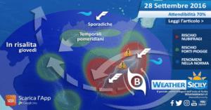 Sicilia, ventilazione orientale in arrivo. I dettagli delle condizioni marine per il 28 e 29 settembre 2016