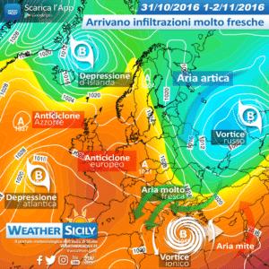 Sicilia, il vortice sullo Ionio invierà aria molto fresca nord-orientale. Variabilità diffusa ma senza piogge