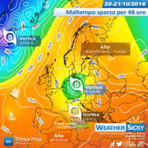 Sicilia, l'alta pressione non regge: variabilità sparsa e fresco. Primo peggioramento da mercoledì