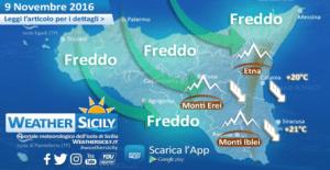Sicilia, nuovo peggioramento in arrivo da ovest: attese piogge sparse e ancora forti venti