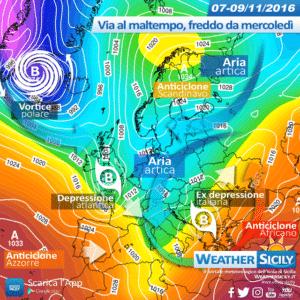 La Sicilia si prepara al primo freddo stagionale: focus di un mercoledì dal sapore invernale