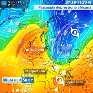 Sicilia, freddo pungente per 48 ore circa: arriva aria artica. Attesa anche qualche nevicata