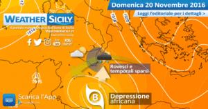 Sicilia, depressione africana influenzerà il tempo anche domenica sul versante orientale