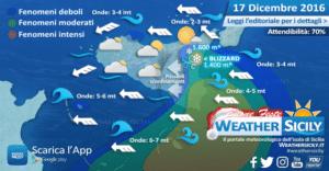 Sicilia, intensa levantata in arrivo. Le condizioni meteo-marine per sabato 17 dicembre 2016