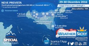 Ondata di gelo in Sicilia. Special Mountain: ecco dove nevicherà a fine anno