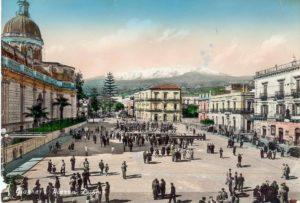 Etna, nei primi del '900, vista da Giarre