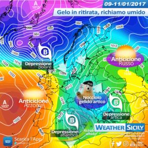 Sicilia addentrata nel gelo. Non è finita, retrogressione in arrivo per lunedì