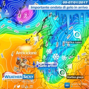 Sicilia, gelo accompagnato da forti venti da N/NW. Ecco i dettagli delle condizioni meteo-marine