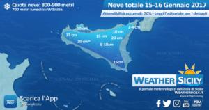 Sicilia, ecco la neve attesa tra domenica e lunedì: monti Sicani in pole position
