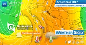 Sicilia, arrivano 72 ore di maltempo. Attesi fenomeni localmente intensi